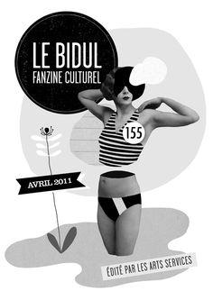 LOGO / ILLUSTRATION / WEB  Création du Logo et de l'illustration mensuelle pour le Fanzine Culturel Le Bidul : agenda culturel sarthois + Le site web.