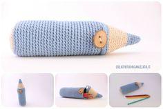 Sewing: case for DIY sunglasses - Tutorial- Cucito: custodia per occhiali da sole fai da te – Tutorial Sewing: case for DIY sunglasses – Tutorial – Organized Creativity - Crochet Pencil Case, Crochet Pouch, Crochet Art, Love Crochet, Crochet For Kids, Crochet Crafts, Crochet Dolls, Crochet Projects, Crochet Patterns