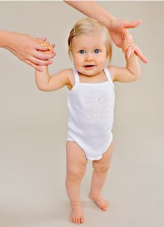 Beautiful Monogrammed Bodysuit/Onsie with pink embroidery. Christening Gowns For Boys, Baby Christening Outfit, Christening Gifts, Boy Or Girl, Baby Boy, Baby Blessing, Holidays With Kids, Holiday Outfits, Lds