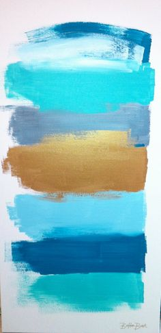 """Abstract Painting titled """"Moments"""" I think I will call it """"Abstract Sky, Water & Beach"""" room color palette? Painting Inspiration, Color Inspiration, Gold Color Combination, Colour Schemes, Color Combinations, Colour Palettes, Art Projects, Abstract Art, Canvas Art"""