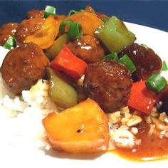 "Waikiki Meatballs | ""A family favorite! Always a hit. Quick and easy, I serve it with brown rice."""