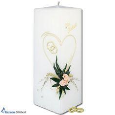 Brautkerze - Hochzeitskerze | Column | KerzenStüberl