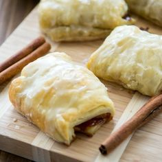 These Easy Apple Croissants come together in minutes, and they have an apple cider glaze!