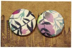 Tropical printed earrings. #etsy