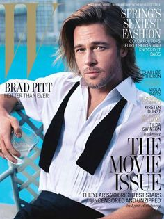"""caption says """"brad Pitt hotter than ever""""...now that he is almost in his 40's (my preferred age group of men) I completely agree...I can finally say brad is smokin"""