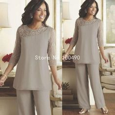 Long Sleeve Mother Of The Bride Pant Suits 2015 Summer Spring Chiffon Custom Made Plus Size Mother of the Bride Dresses HH202-in Mother of the Bride Dresses from Weddings & Events on Aliexpress.com   Alibaba Group