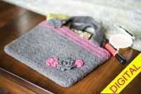 #Felt and Flowers #Bag Digital #Crochet Pattern from Love of Crochet magazine, Spring 2015