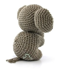 DIY Crochet pattern Elephant Eco Barbante