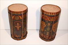 Pair of Antique Drum Tables $7,500.00