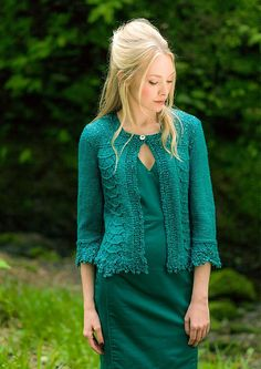 "Ravelry: ""Armstrong Beaded Edge Jacket"" pattern by Louisa Harding"