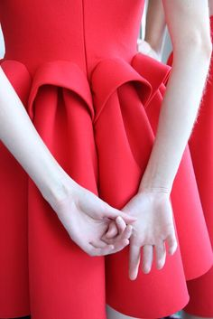 architectural detail backstage at Delpozo