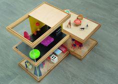 Modern dollhouse; Simplekoti Modern Dollhouse, I Fall, Diy Art, Arts And Crafts, Dolls, My Style, Frame, Nice Ideas, Kids