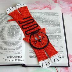 Ravelry: 073 Cat or Tiger Bookmark pattern by LittleOwlsHut