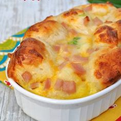 Christmas morning is the perfect time to enjoy an indulgent, relaxing breakfast or brunch -- without any hassle in the kitchen. This recipe for Overnight Ham, Egg, and Cheese Monkey Bread takes only a few minutes to prep the night before and is baked in the morning for a warm, aromatic, delicious breakfast that is special enough to celebrate the holidays or serve to guests.