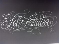 La Familia La Familia Tattoo, Soldier Silhouette, Chicano Drawings, Tattoo Hals, Tattoo Sketches, Insomnia, Creative Inspiration, Script, Tattoo Designs