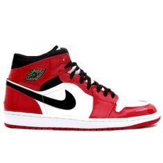 Air Jordan 1 Retro White / Black / Red $105.99 www.authenticjordanscheap.com