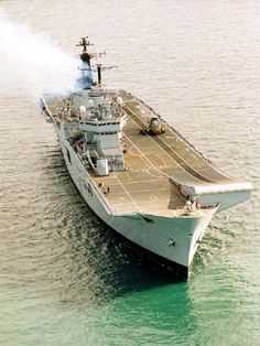 The HMS Invincible is one of the 3 British aircraft carriers from the British Royal Navy. Portsmouth Naval Base is the home of the Invincible.