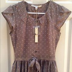 Lauren Conrad Polkadot Dress Beautiful Polkadot dress. Never been worn. 100% Polyester. 35 inches total length. NO TRADES NO PAYPAL Lauren Conrad Dresses