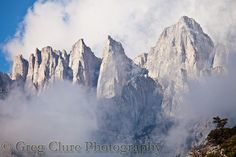 Clouds over Mt Whitney, CA