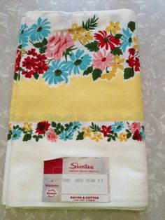 Vintage Tablecloth Simtex Sunny Yellow MWT