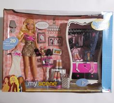 My Scene Barbie doll Getting Ready My Room gift set from 2003. Includes doll, closet and table. Plus fashions and accessories. New and sealed. Minor dent on front lower corner. | eBay!