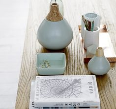Ceramic and Wood Vases - Quince Living  - 1