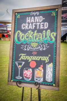 Chalk art for Tanqueray by Modern Aquarian