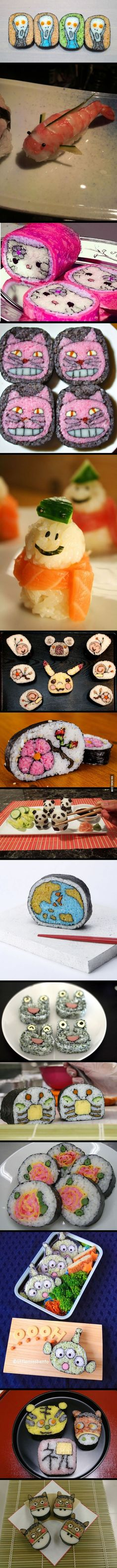 Beautiful sushi art!