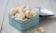Kokosmakroner Krispie Treats, Rice Krispies, Korn, Cereal, Breakfast, Cookies, Desserts, Christmas, Recipe