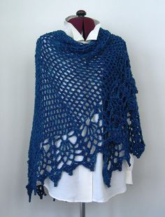 All Shawl in Boucle by Doris Chan.  My favorite crochet lady.  I have made this shawl three times so far.  Very easy!
