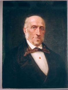 Carlo Conti (1796-1868), painting (1877), by Guglielmo de Martino (1845-1898).