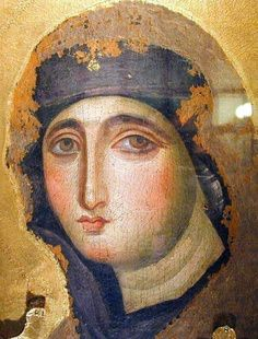 Very old icon of Our Lady Religious Images, Religious Icons, Religious Art, Sainte Therese De Lisieux, La Madone, Images Of Mary, Queen Of Heaven, Blessed Mother Mary, Byzantine Art