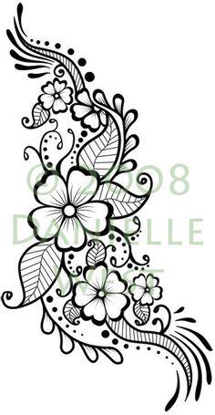 Tatoo Henna, Henna Tattoo Designs, Henna Mehndi, Flower Tattoo Designs, Henna Art, Flower Tattoos, Mehndi Designs, Mehendi, Vine Tattoos
