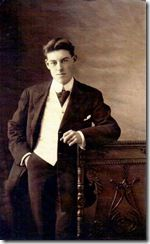 A picture of a young man who was on the Titanic. We're using this picture to help us develop our character, Charles Malcolm Stanford III