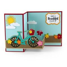 Silhouette Design Store - View Design #142226: pop up box card bicycle