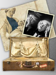 On April 10, 1912, Millvina Dean boarded Titanic in third class with her parents and older brother. Her father, Bertram Dean, perished with the ship.    Tiny Millvina was lowered into a lifeboat and was rescued along with her mother and brother. Arriving in New York City with nothing but the clothes on their backs, they were soon greeted by charitable New Yorkers who gave them a small wicker suitcase filled with donated clothing to help rebuild their lives.