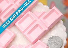 55mm Big Pink Chocolate Bar Resin Flatback by delishbeads on Etsy, $3.95