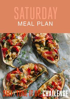 Self x Tone It Up Challenge – Saturday Recipes - Italian Stuffed Eggplant