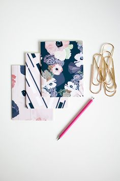UNE FEMME mini blank notebook jotter three by KhristianAHowell