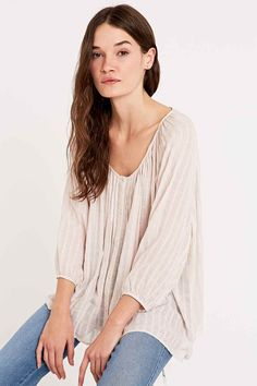 Pins & Needles Romantic Sleeve Blouse in Pink
