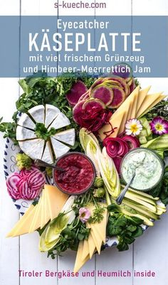 Hay milk cheese platter with fresh vegetables - Smoothies Easy Delicious Recipes, Yummy Food, Fresh Vegetables, Veggies, Breakfast Photography, Milk And Cheese, Cheese Platters, Spring Recipes, Chutney