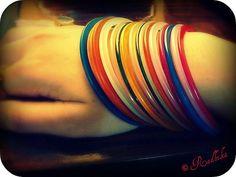 jelly bracelets...they made a comeback. #1980's