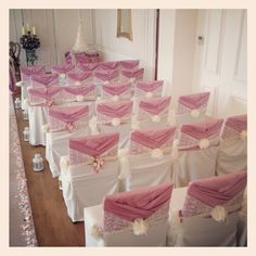 Vintage Pink And Lace Wrap Sash Tablecloth Wedding Chair Covers