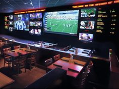 The Sporting House Bar & Grill Vegas' newest sports bar calls New York-New York home. The Sporting House Bar & Grill has 130 televisions to catch all the games. Head up to the arcade level on the second floor for a break in the action. Great chow and cold beer are always on the menu.Google Image Result for http://cdn.hauteliving.com/wp-content/uploads/2011/02/Sporting-House-Bar.jpg