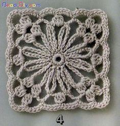 "podkins: "" Crochet Granny / Motif Source: http://www.liveinternet.ru/users/3951561/post138667702/ """
