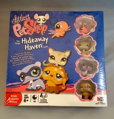 Littlest-Pet-Shop-Hideaway-Haven-Board-Game-New-Factory-Sealed-Includes-4-Pets