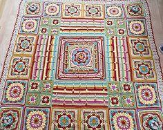 Demelza - gorgeous free crochet blanket pattern by Catherine Bligh. DK yarn.
