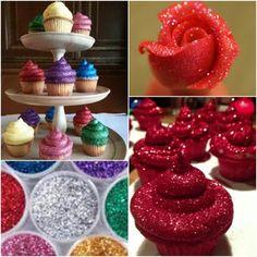 Edible Glitter Cupcakes