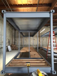 Connect Homes : Floor joists for Orinda Connect 8 and Connect 2 are going in in factory. Building A Container Home, Container Buildings, Container Architecture, Shipping Container Home Designs, Container House Design, Tiny House Design, Steel Frame House, Steel House, Prefab Homes