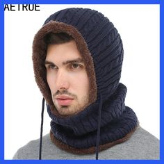 AETRUE Winter Knitted Hat Beanie Men Scarf Skullies Beanies Winter Hats For  Women Men Caps Gorras 611e730ce90